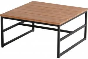 Bilde av Amsterdam Lounge Side Table 70x70cm, Teak top